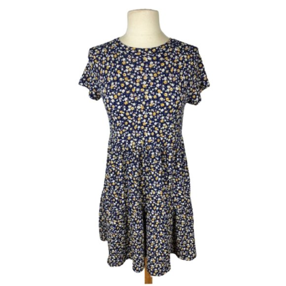 Jessica Simpson Ditzy Floral Babydoll Knit Dress S
